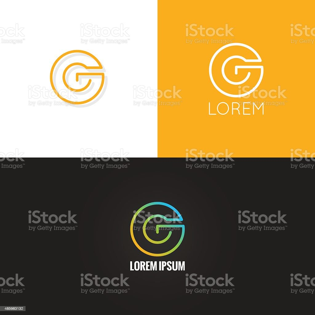 letter G logo alphabet design icon set background vector art illustration