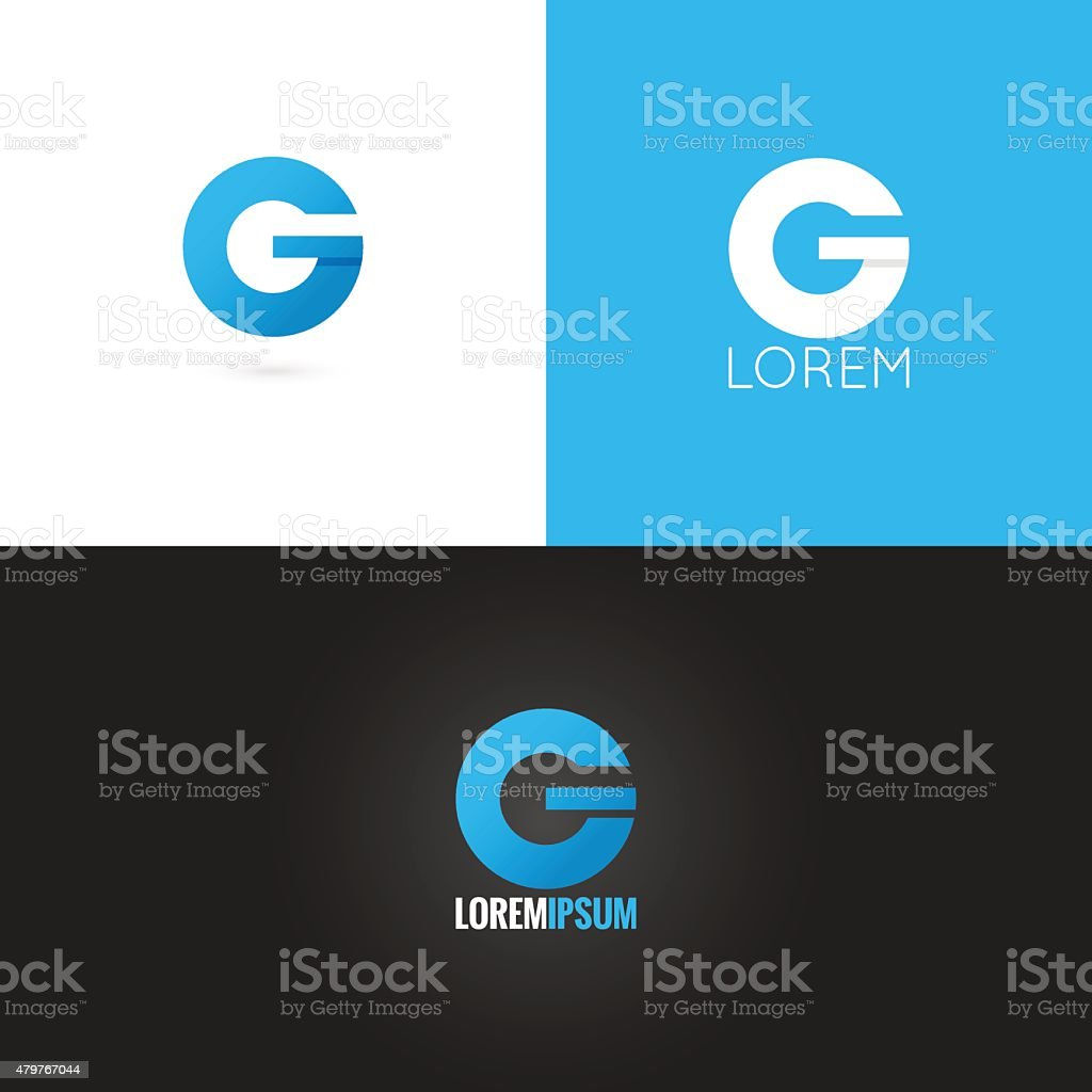 letter G logo design icon set background vector art illustration