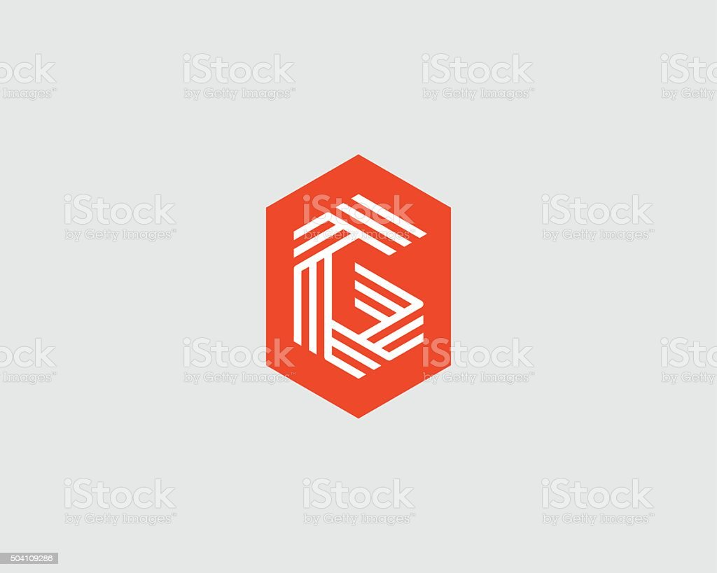 Letter G logo icon vector design. Creative line symbol vector art illustration