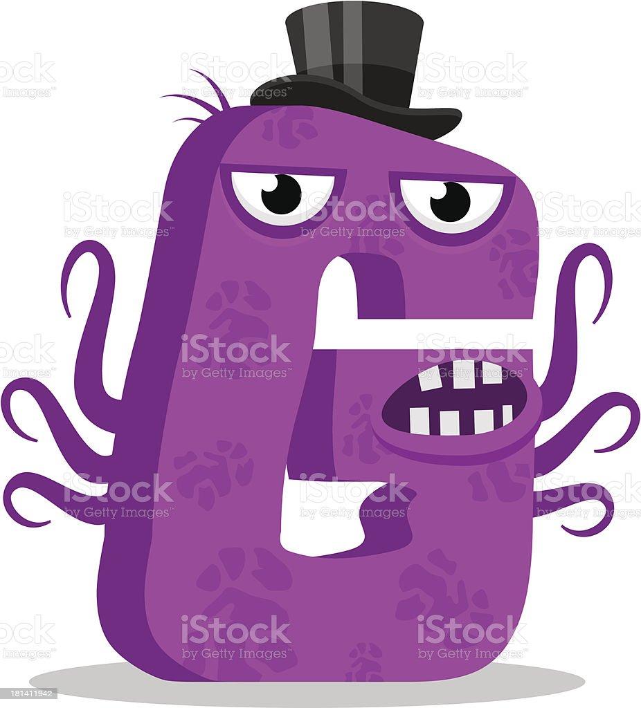 Letter G monster. Vector illustration. royalty-free stock vector art