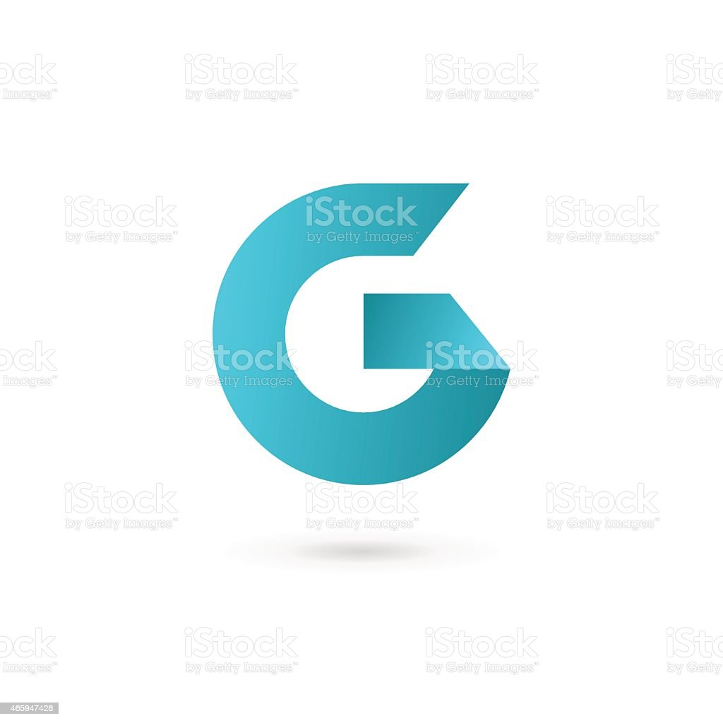 Letter G or number 6 icon vector art illustration