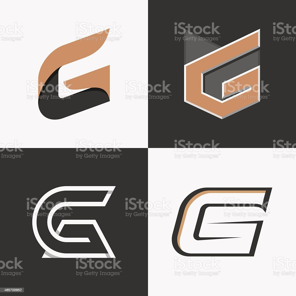 Letter G sign, logo, icon design template elements. vector art illustration
