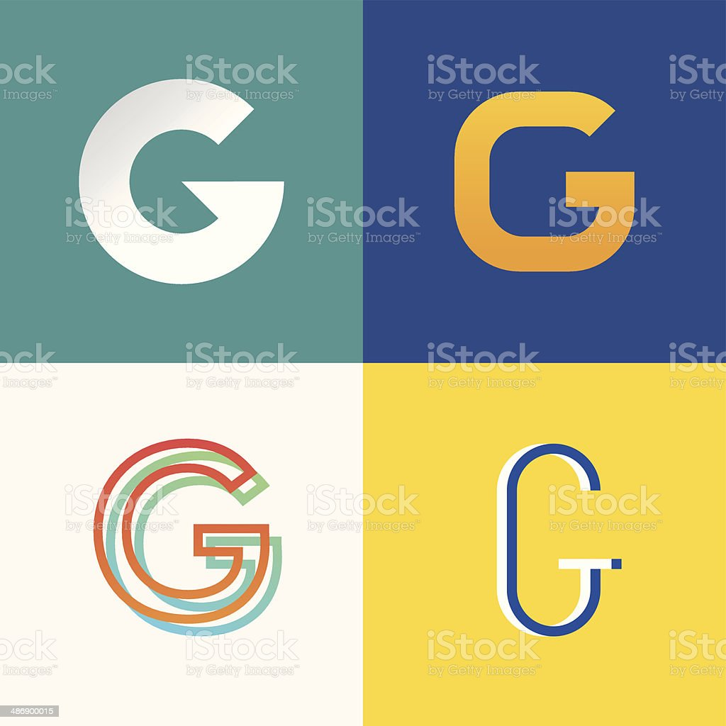 Letter G vector art illustration