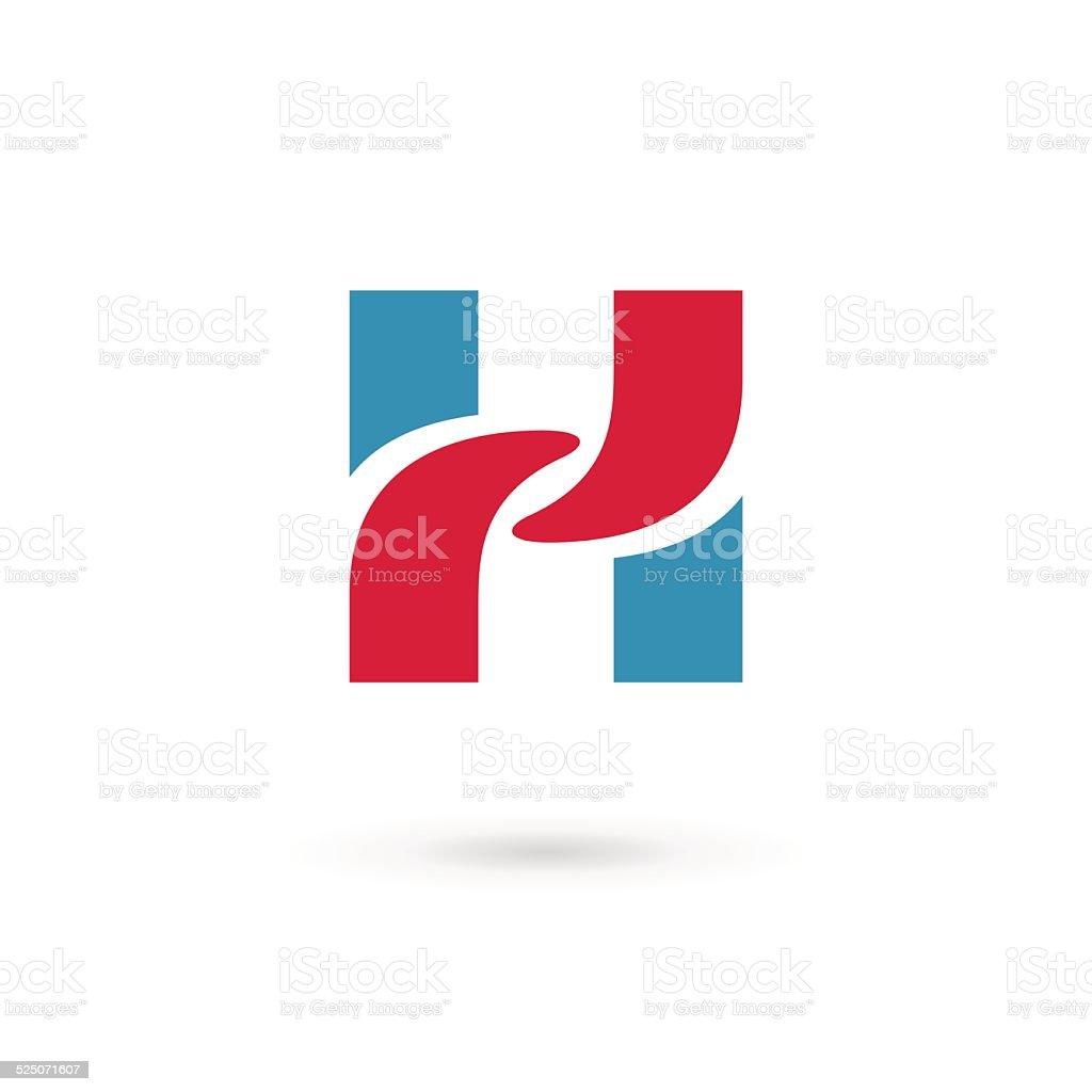 Letter H icon vector art illustration