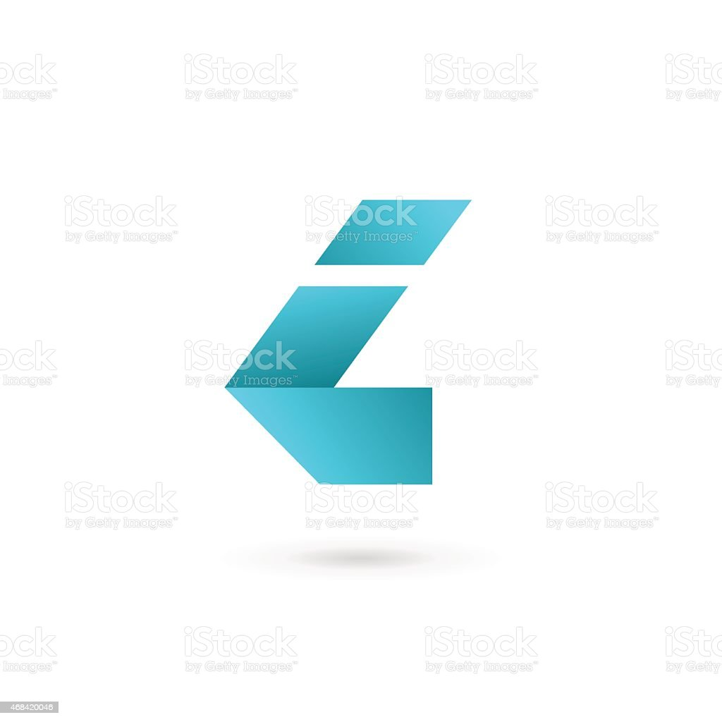 Letter I icon vector art illustration