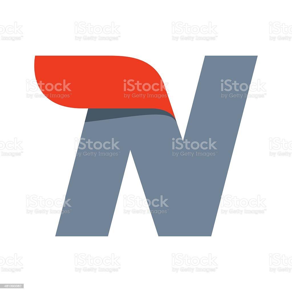 N letter icon design template. vector art illustration