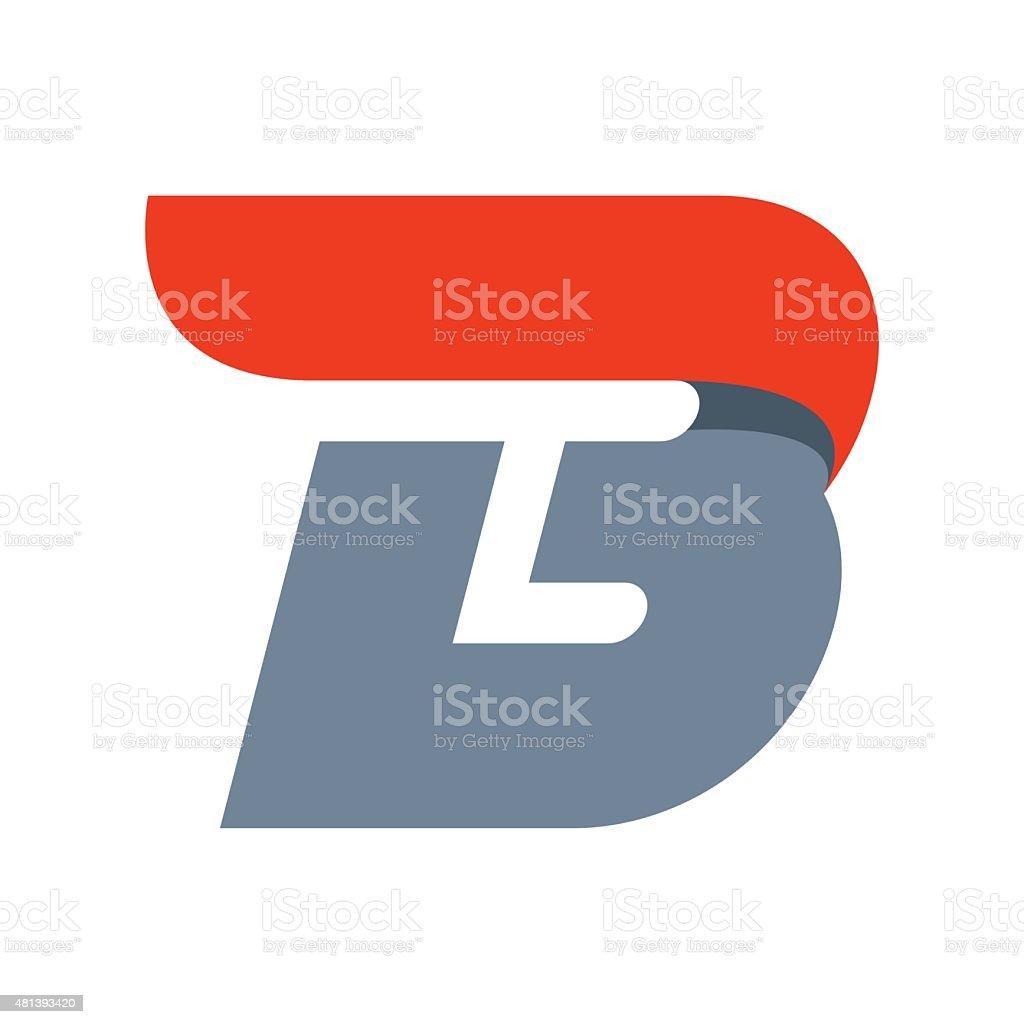 B letter icon design template vector art illustration