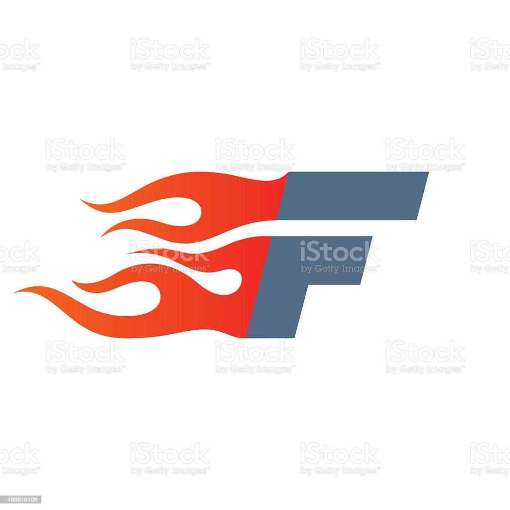 F letter icon design template. vector art illustration