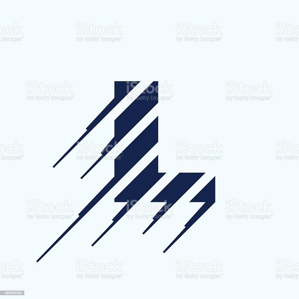 L letter icon design template. vector art illustration
