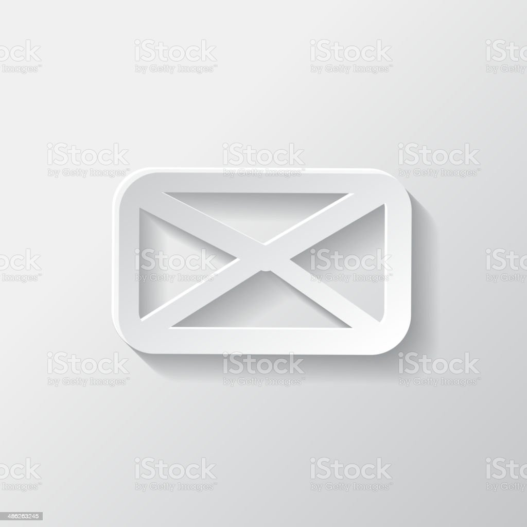 Letter icon. Email message. Sms. royalty-free stock vector art