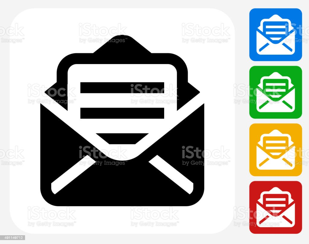 Letter Icon Flat Graphic Design vector art illustration