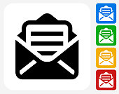 Letter Icon Flat Graphic Design