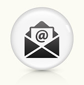 Letter icon on white round vector button