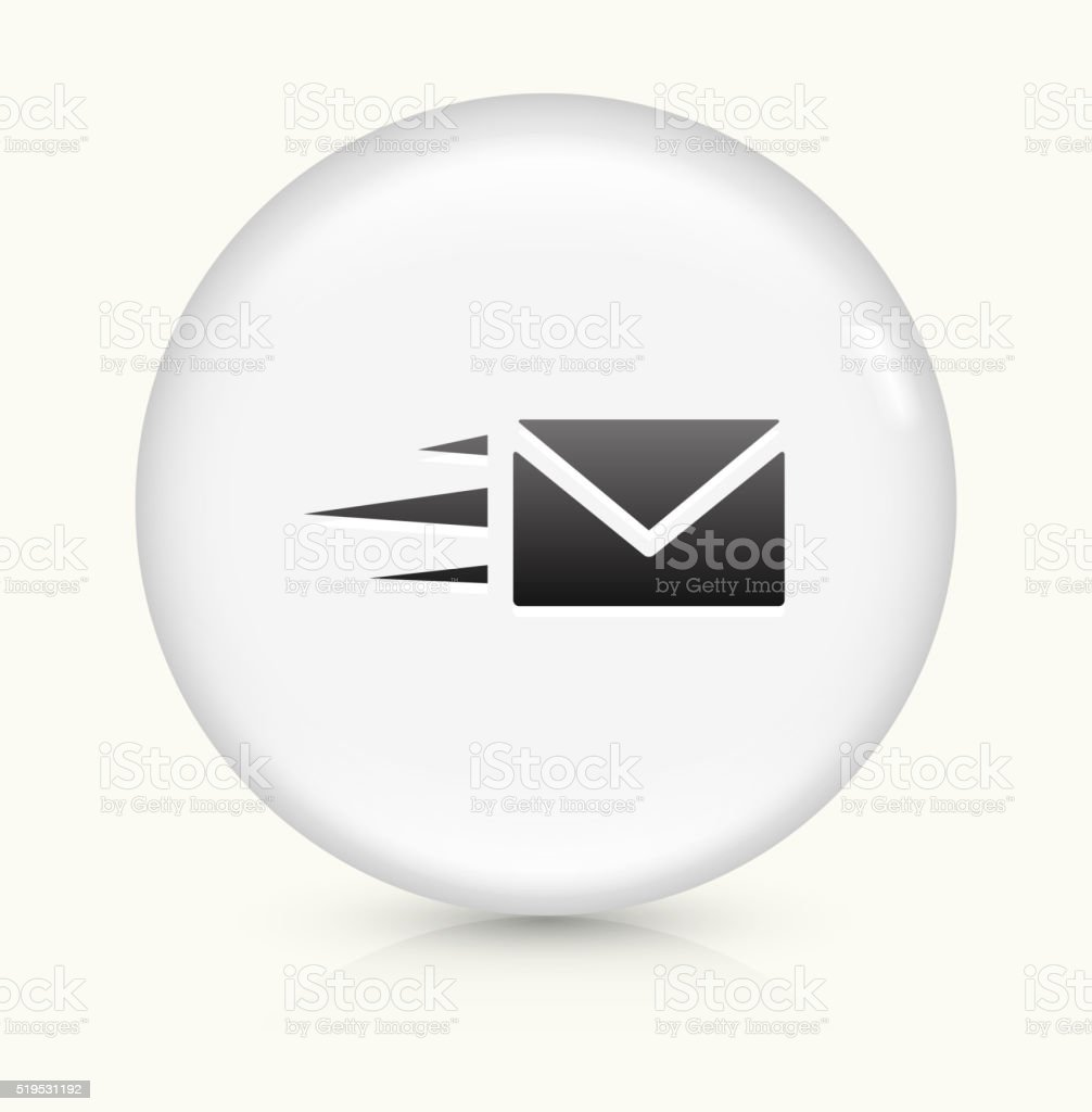 Letter icon on white round vector button vector art illustration