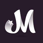 M letter icon with star.