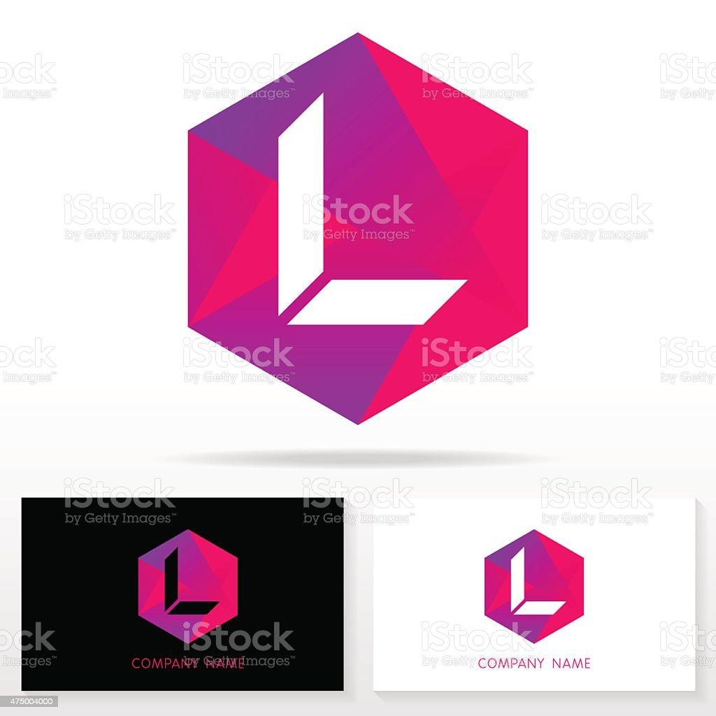 Letter L logo icon design template elements - Illustration. vector art illustration