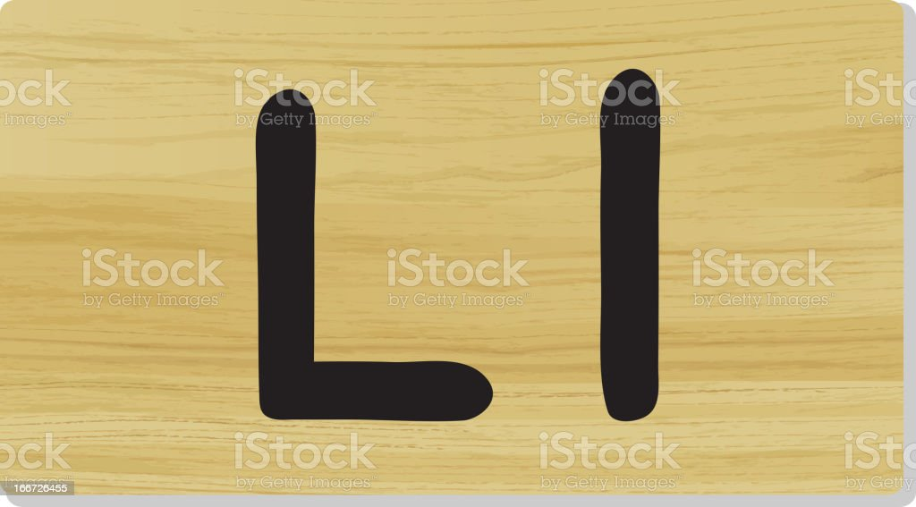 Letter L royalty-free stock vector art
