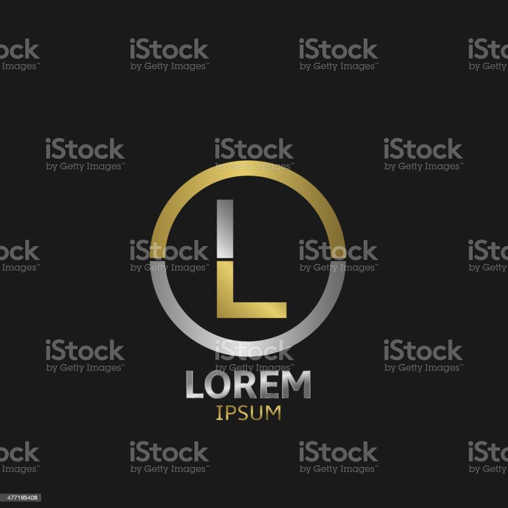 Letter L vector art illustration