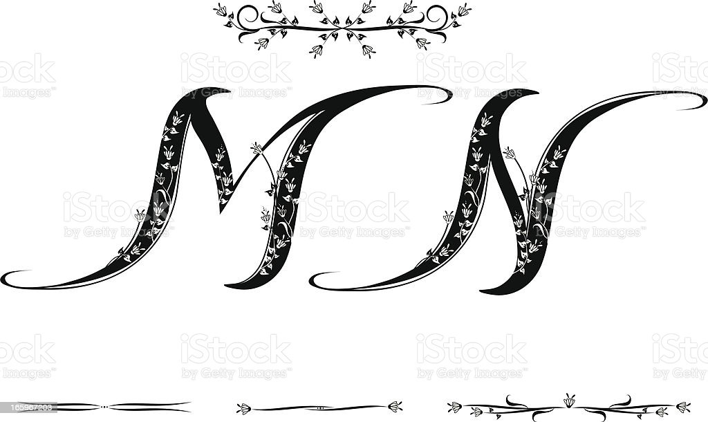 Letter M and N royalty-free stock vector art