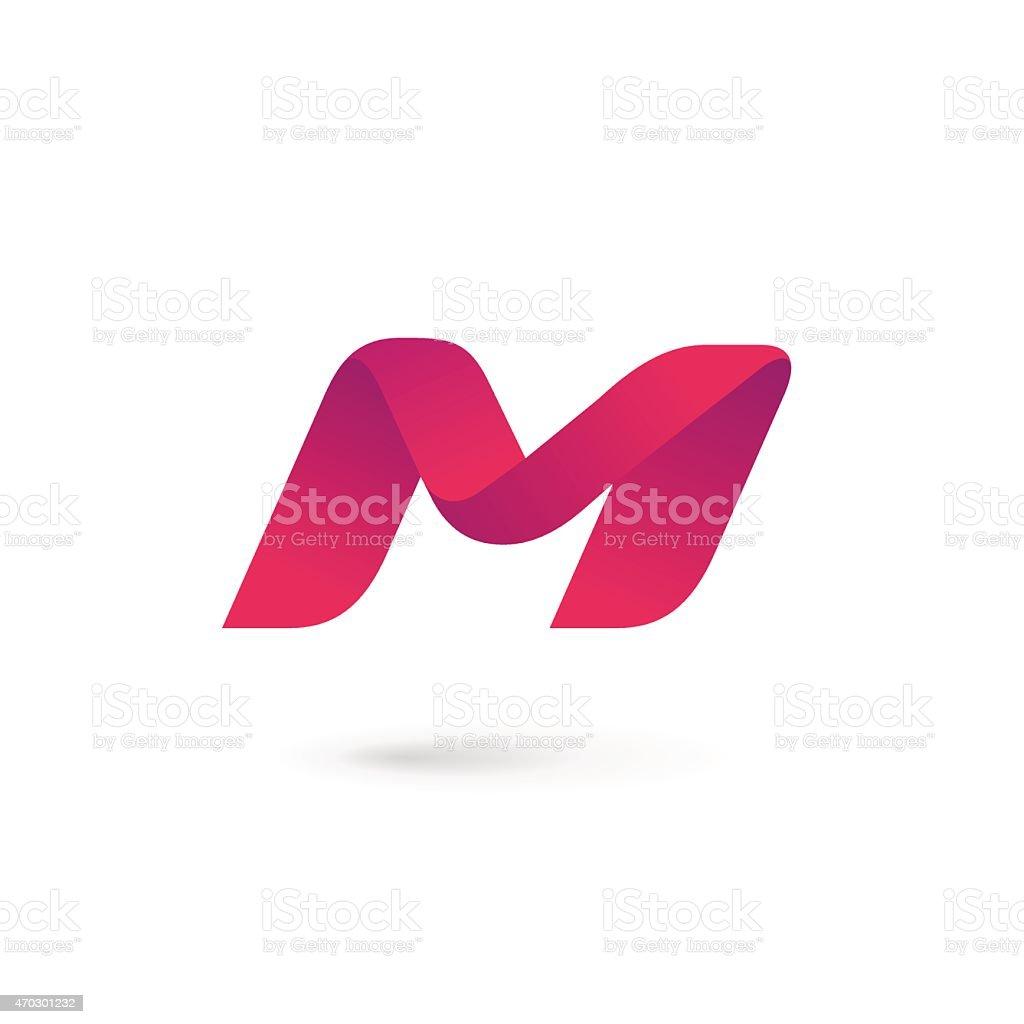 Letter M icon templates design elements vector art illustration