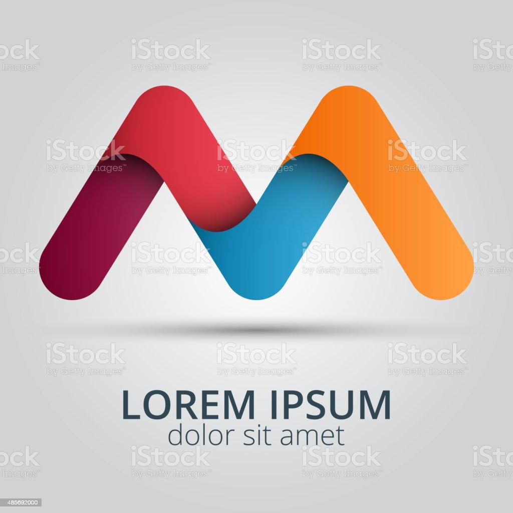 Letter M logo icon design template elements. vector art illustration