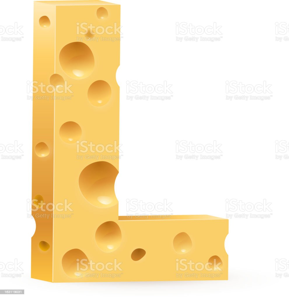 Letter made of Cheese royalty-free stock vector art