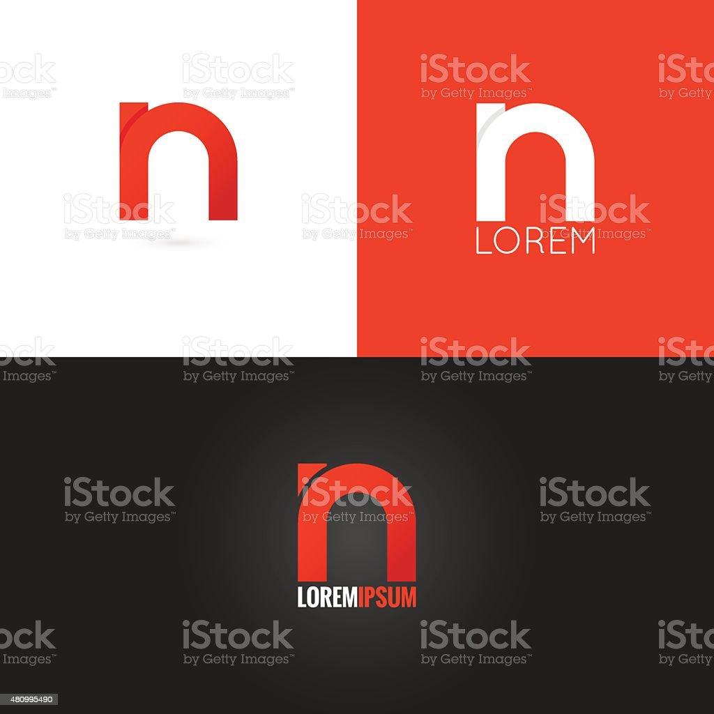 letter N icon design icon set background vector art illustration