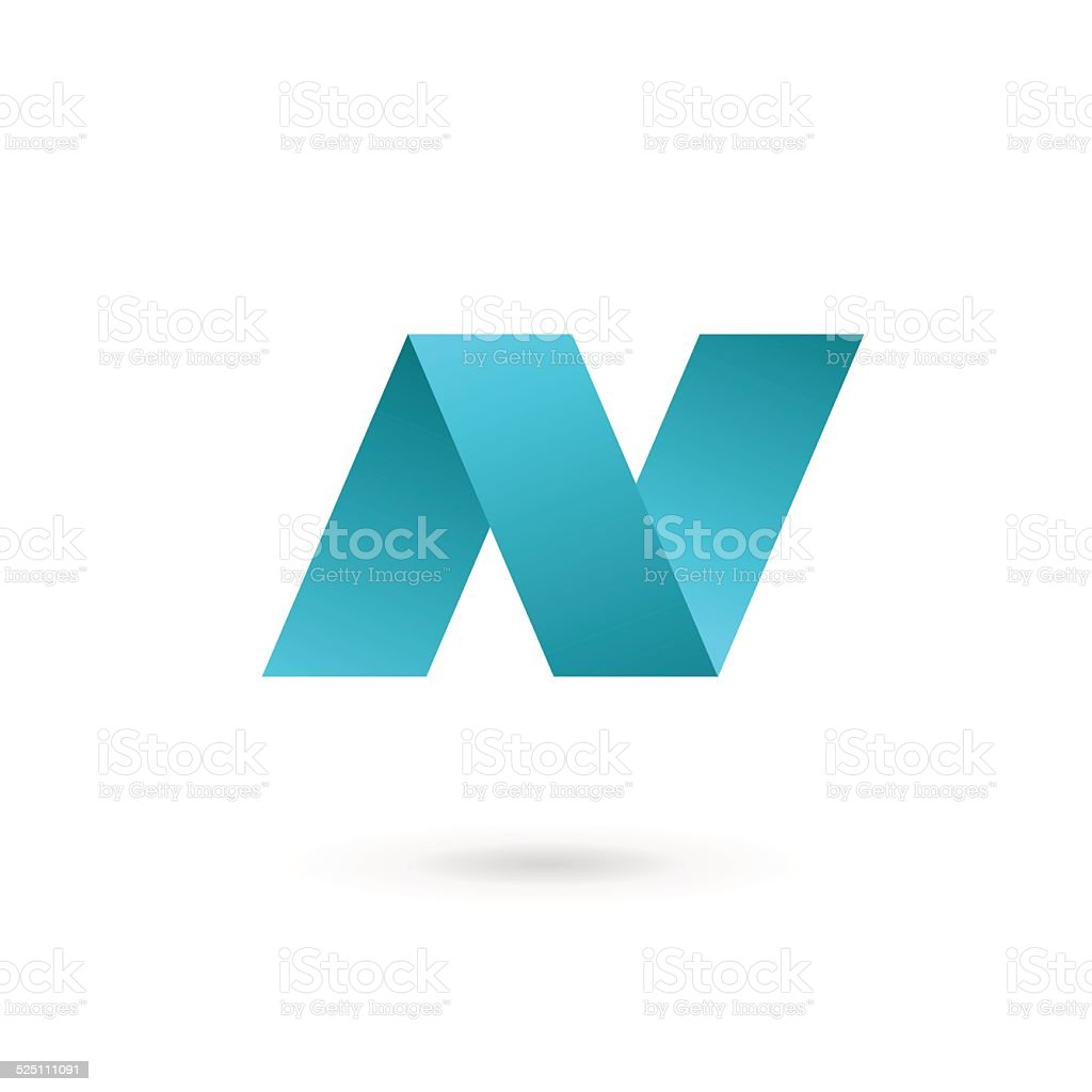 Letter N icon vector art illustration