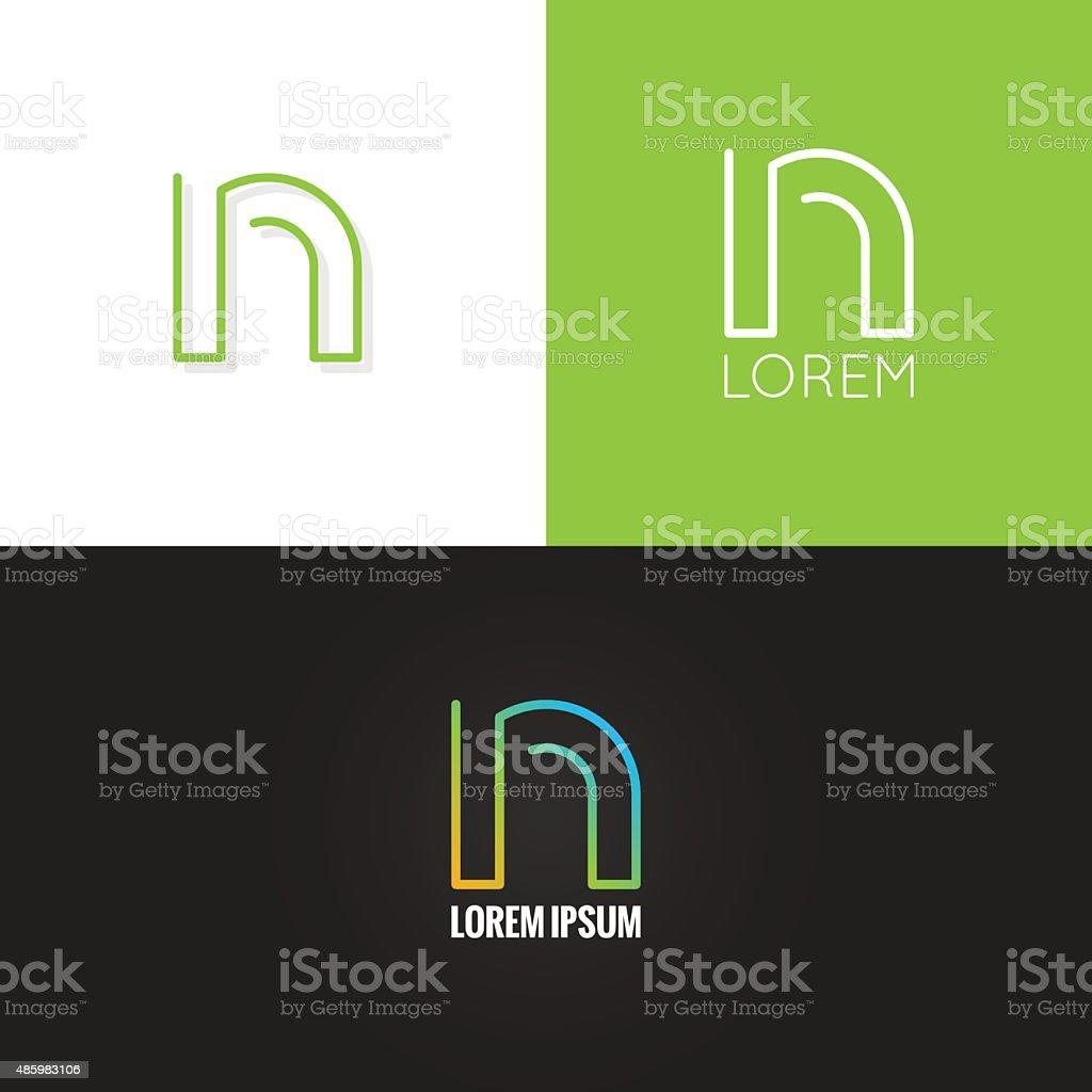 letter N logo alphabet design icon set background vector art illustration