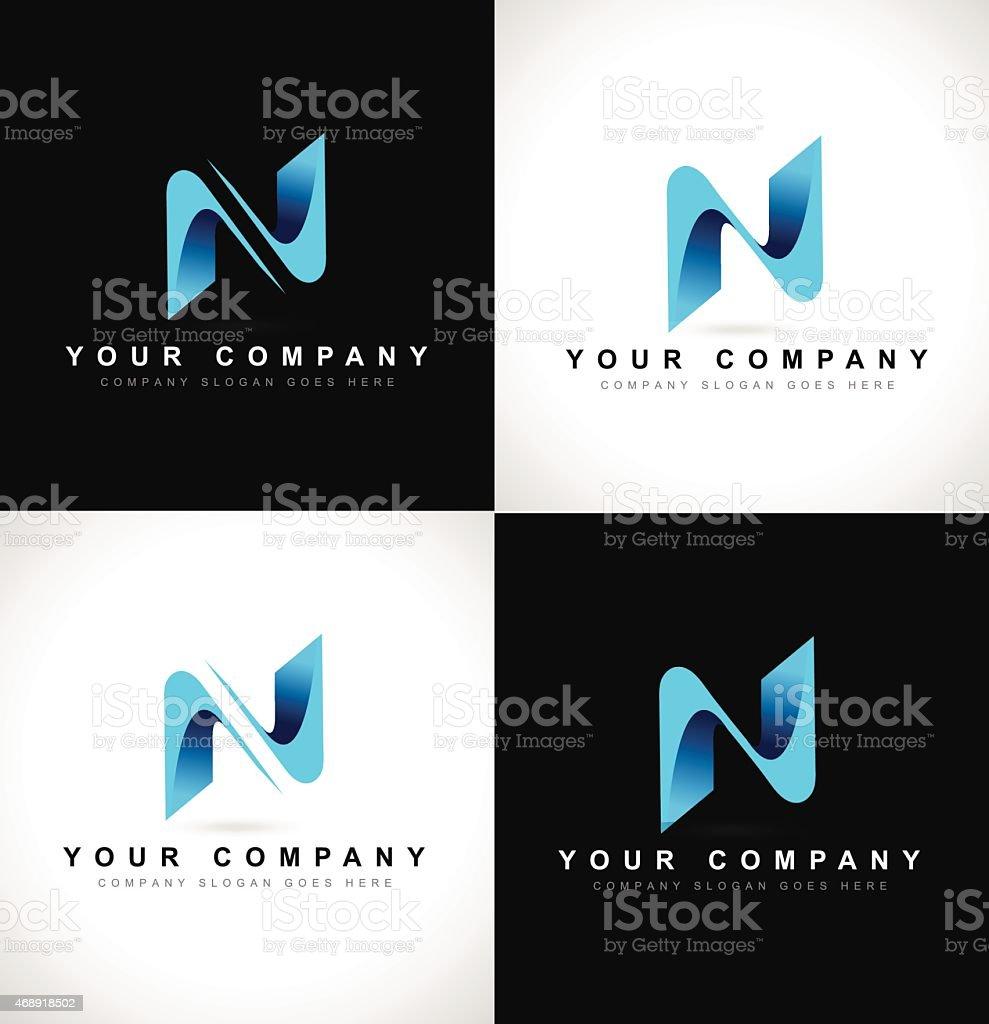 Letter N Logo vector art illustration