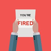 Letter notifying man that he's fired