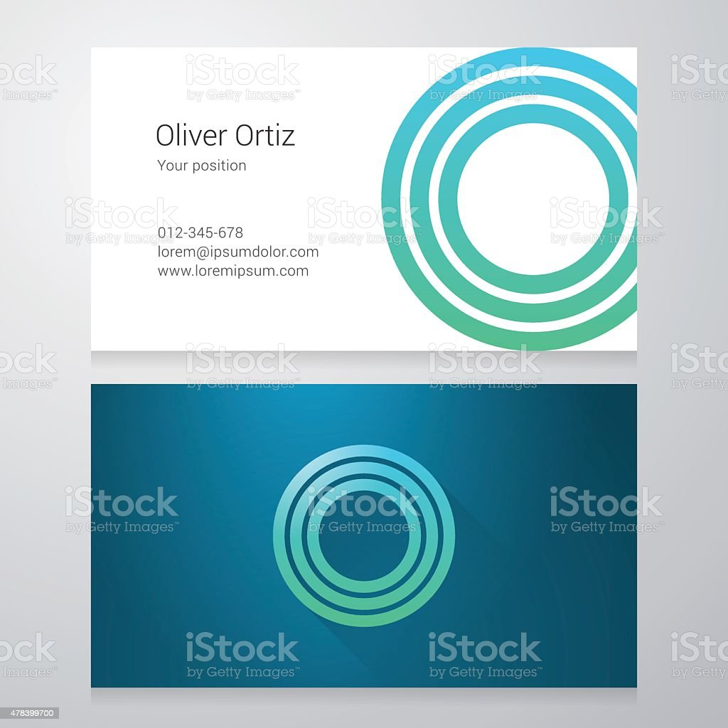 Letter O Business card template vector art illustration