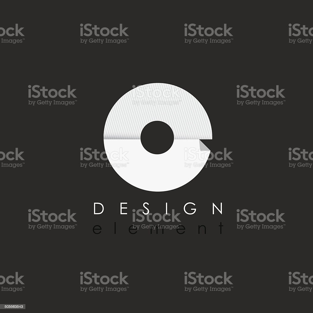 letter O design element in flat design style for business vector art illustration