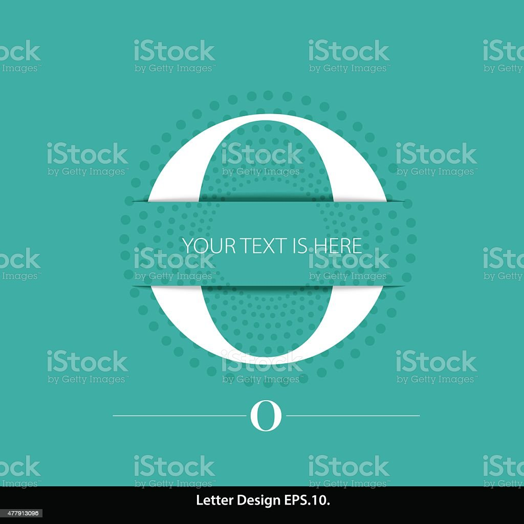 Letter O vector alphabet inserted into the paper cut. vector art illustration