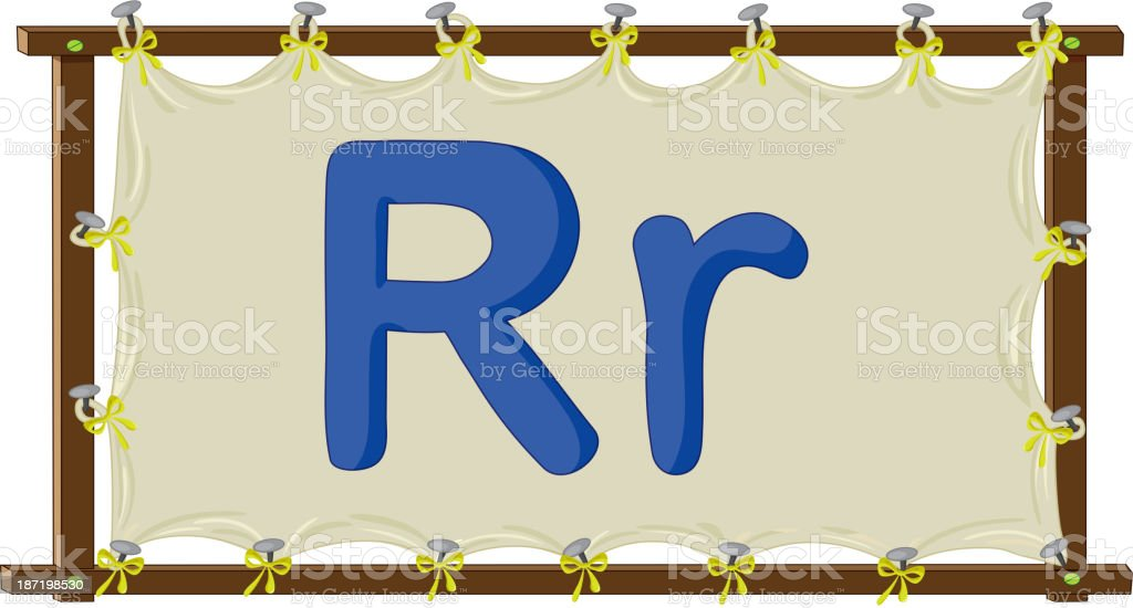 Letter of the alphabet royalty-free stock vector art