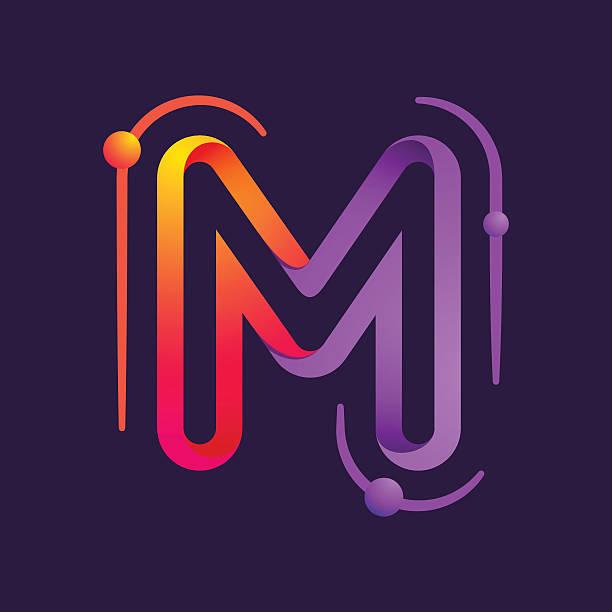 Single Line Letter Art : Letter m clip art vector images illustrations istock