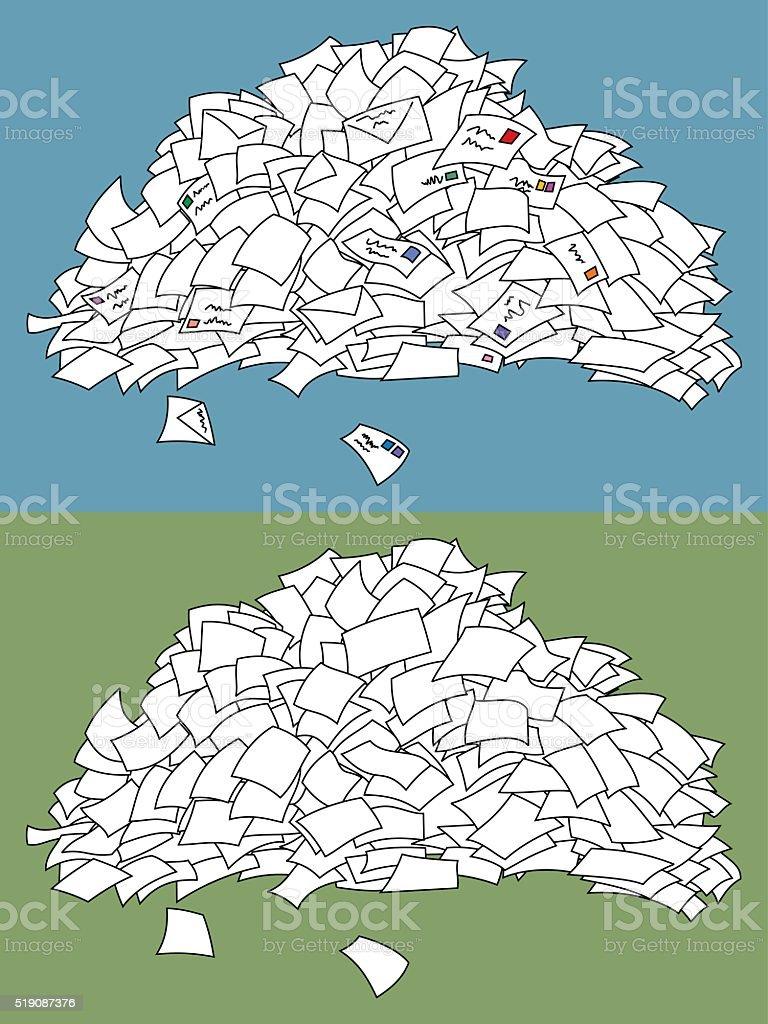 Letter Pile vector art illustration