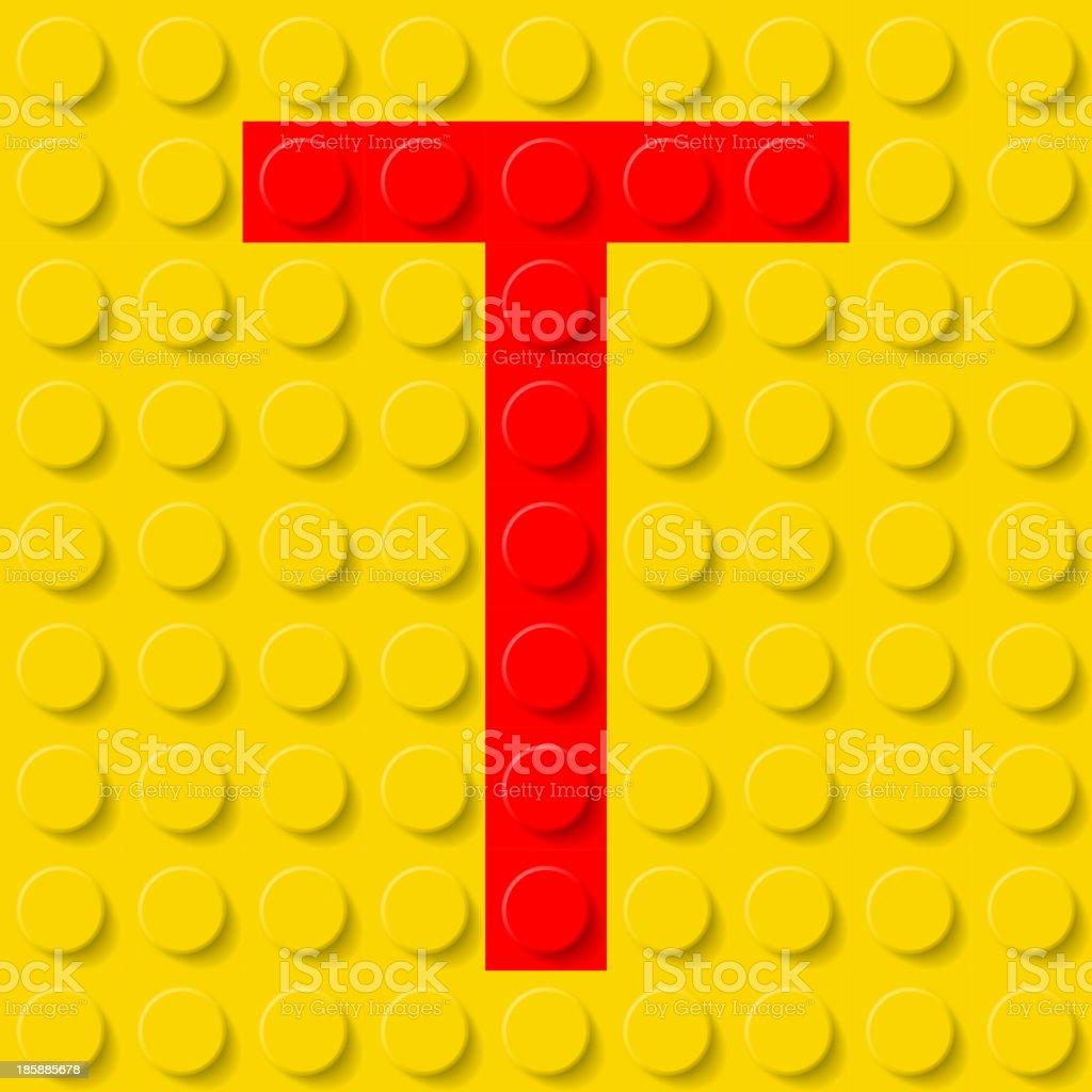 Letter T in construction kit. royalty-free stock vector art