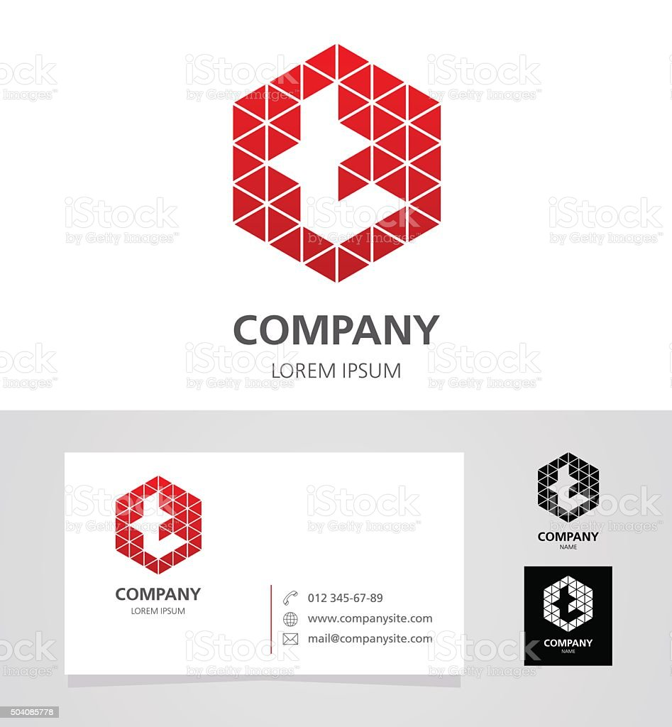 Letter T - Logo Design Element with Business Card - illustration vector art illustration