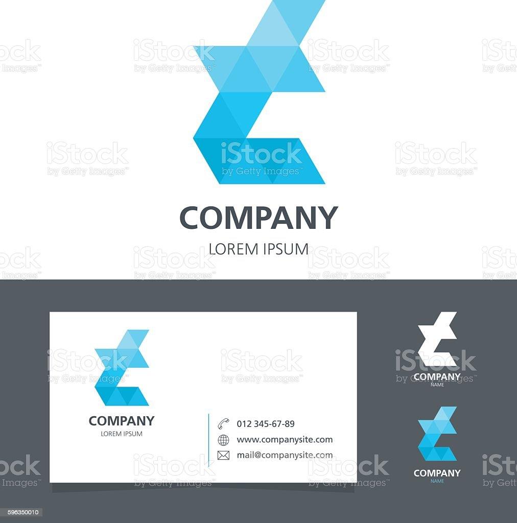 Letter T - Logo Design Element with Business Card - illustration vector art illustration