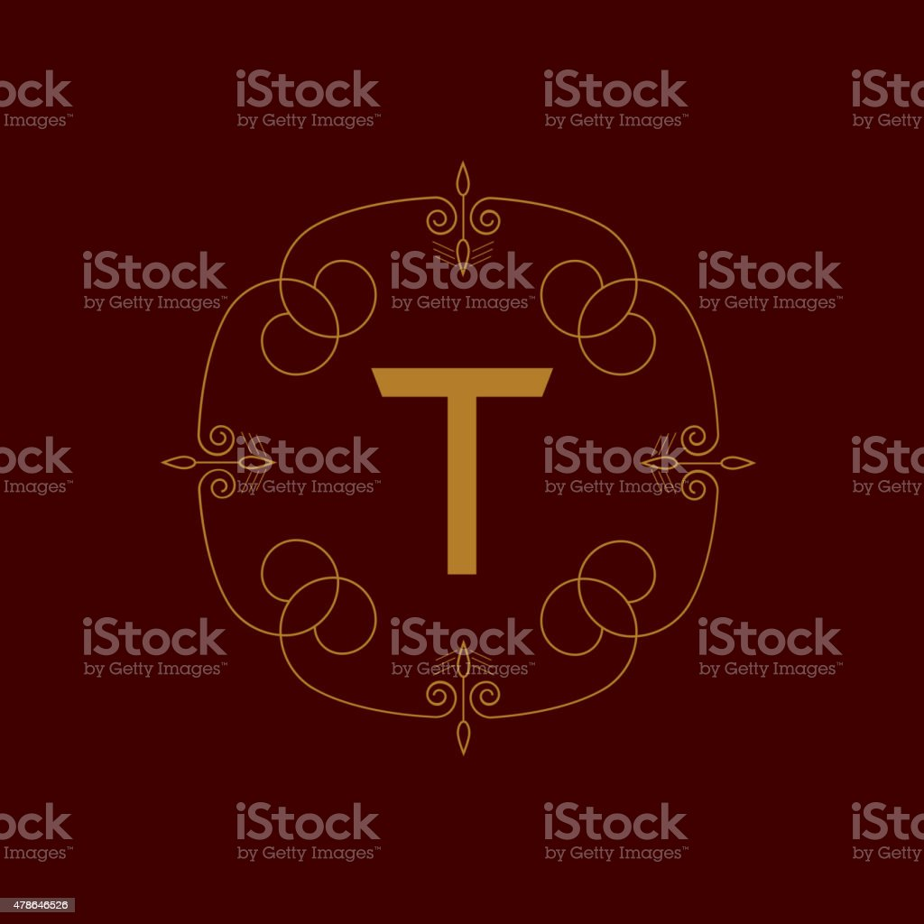 Letter T vector art illustration