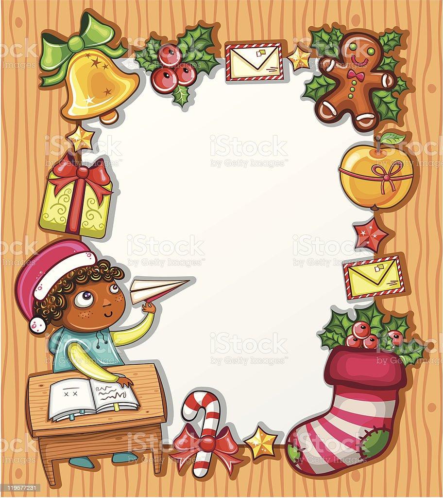 Letter to Santa series 1 royalty-free stock vector art