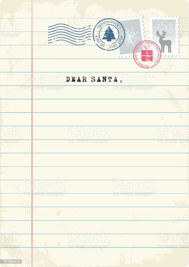 Letter to Santa vector art illustration