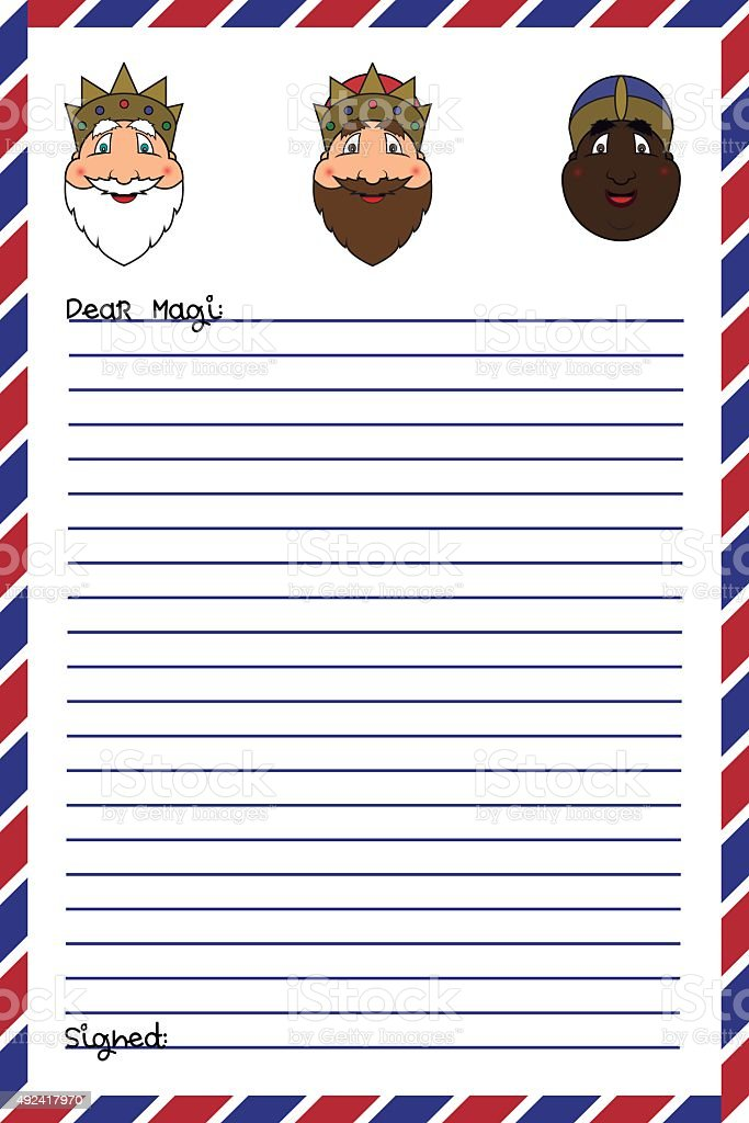 Letter to the Magi vector art illustration