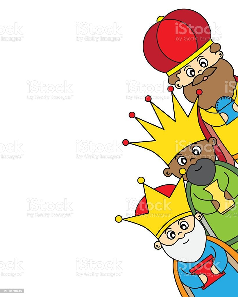 Letter to the Three Kings vector art illustration