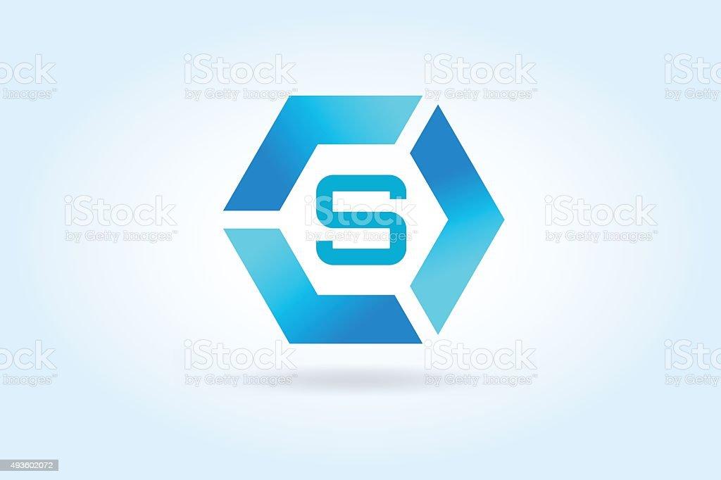 S letter vector icon template. Super symbol silhouette vector art illustration