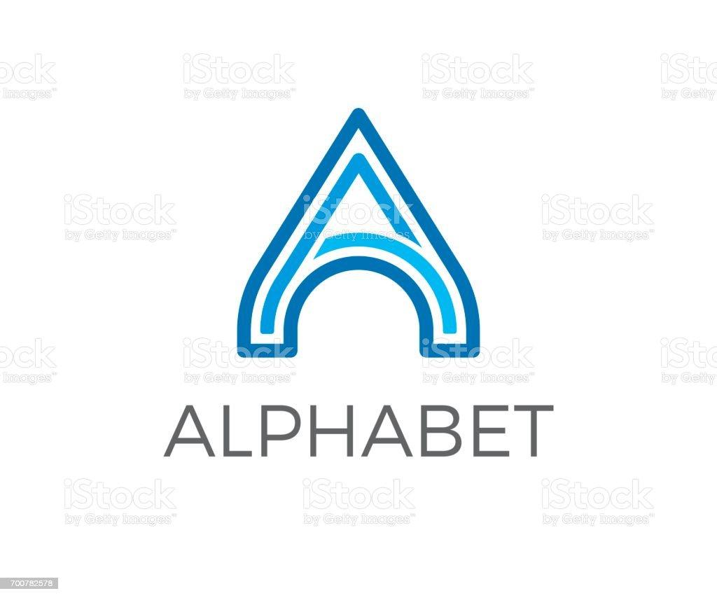 A letter vector icon vector art illustration