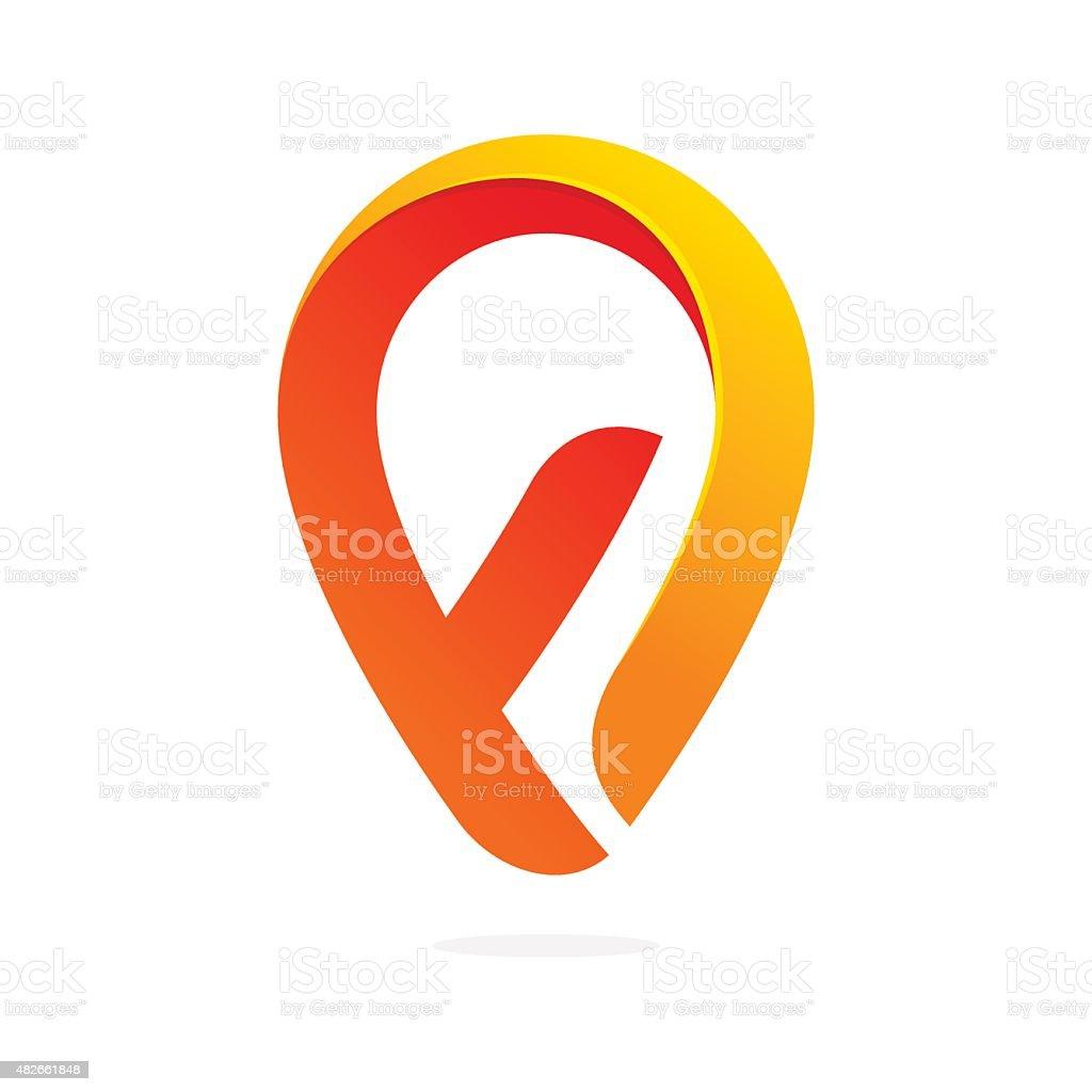 F letter volume icon vector art illustration