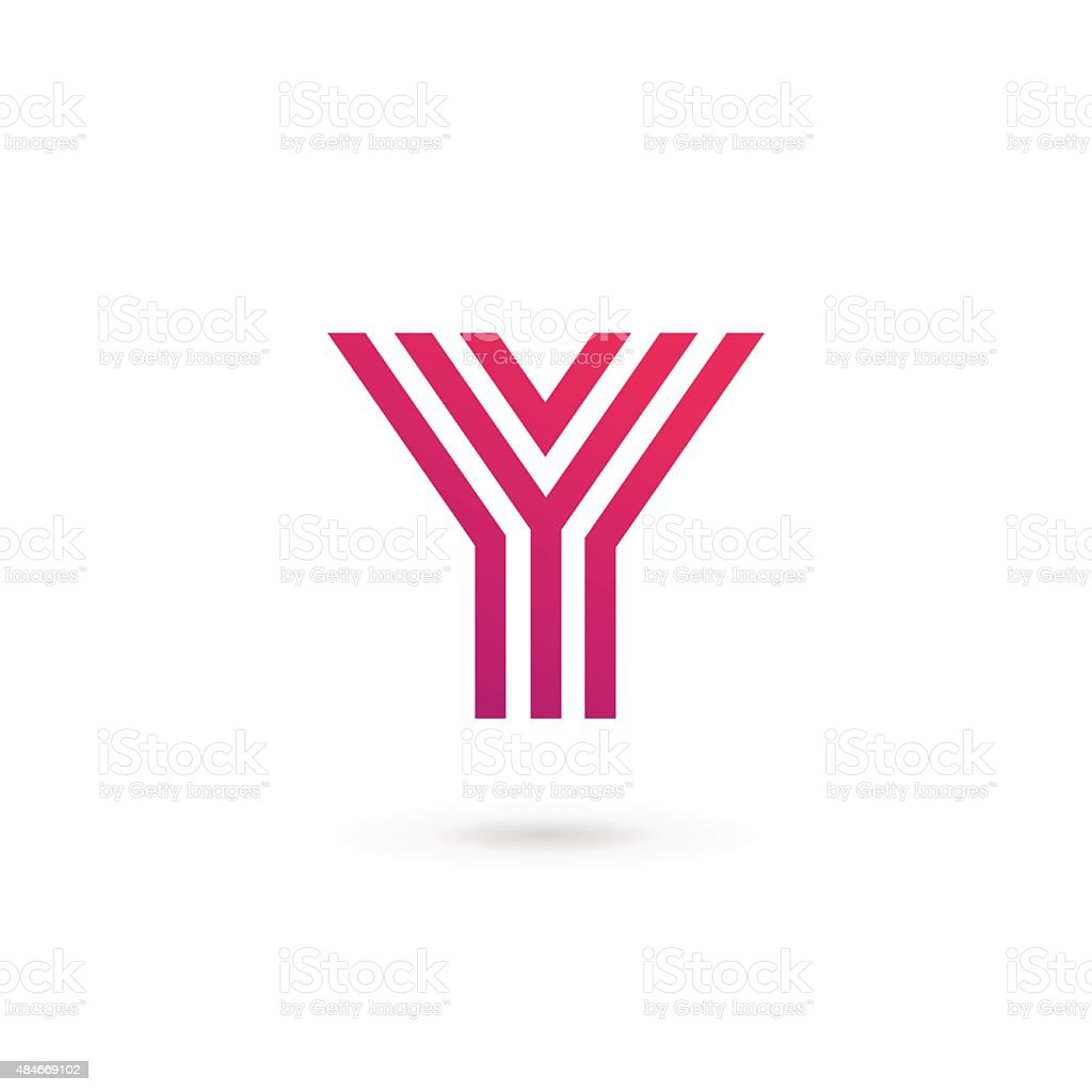 Letter Y icon design template elements vector art illustration