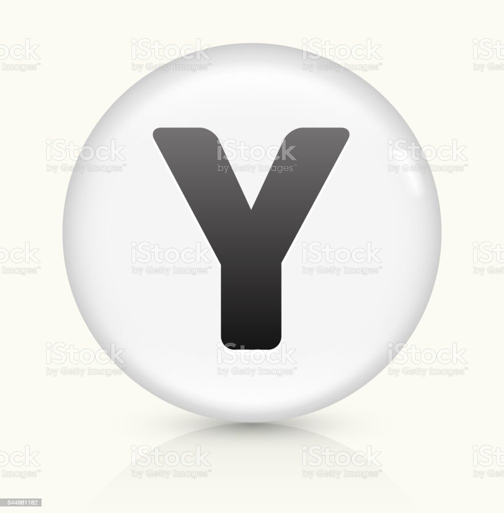 Letter Y icon on white round vector button vector art illustration